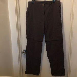 Exofficio brown convertible pants, insect shield